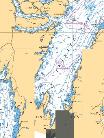Trinity bay southern portion partie sud marine chart for Trinity bay fishing