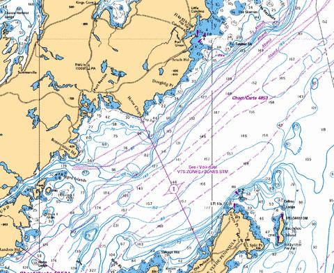 Trinity bay northern portion partie nord marine chart for Trinity bay fishing
