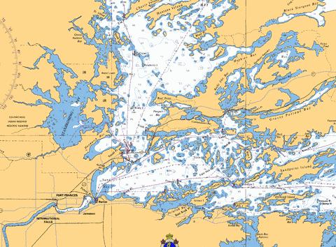 FORT FRANCES TO/À HOSTESS ISLAND AND/ET SANDPOINT ISLAND Marine Chart - Nautical Charts App