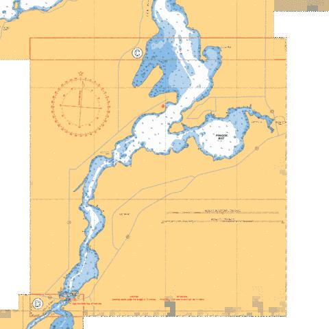 CONTINUATION C-D LEE RIVER Marine Chart - Nautical Charts App