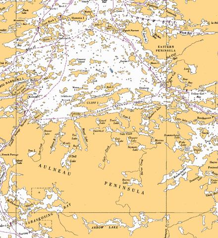 KENORA TO/� AULNEAU PENINSULA NORTHERN PORTION/PARTIE NORD Marine Chart - Nautical Charts App