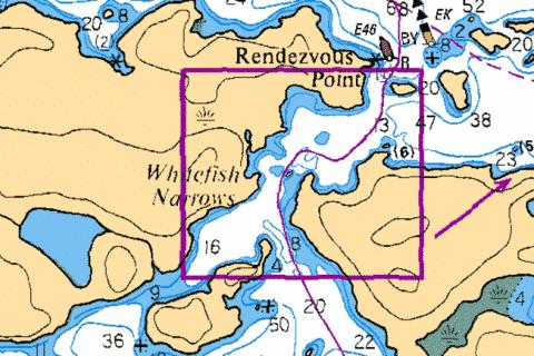 WHITEFISH NARROWS Marine Chart - Nautical Charts App