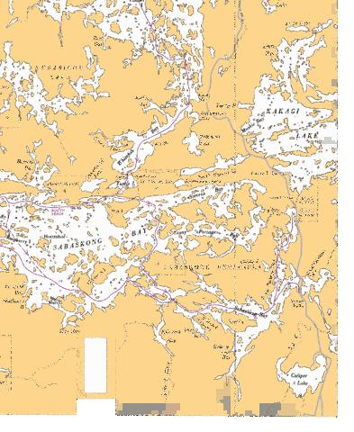 SABASKONG BAY - 1 Marine Chart - Nautical Charts App
