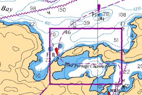 MUD PORTAGE CHANNEL Marine Chart - Nautical Charts App