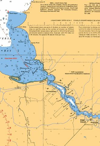 WINNIPEG RIVER/RIVI�RE WINNIPEG AND APPROACHES/ ET LES APPROCHES Marine Chart - Nautical Charts App
