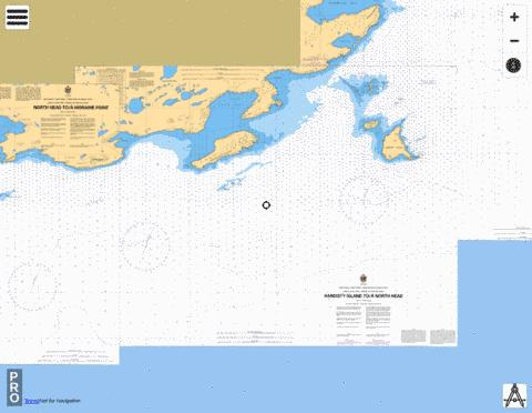 HARDISTY ISLAND TO / À NORTH HEAD Marine Chart - Nautical Charts App