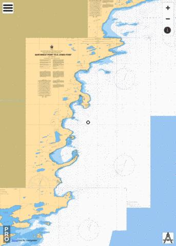 NORTHWEST POINT TO / À JONES POINT Marine Chart - Nautical Charts App