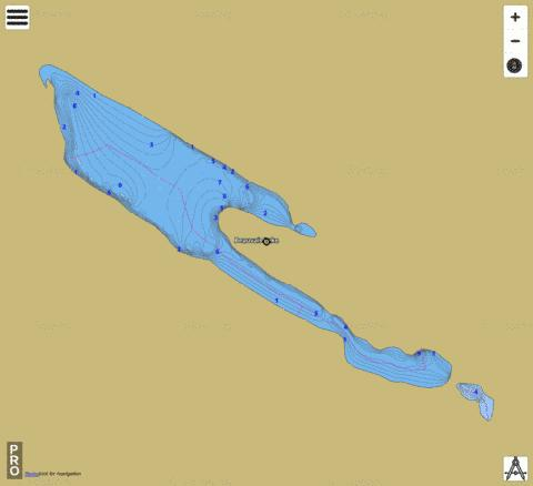 Beauvais Lake Fishing Map - i-Boating App