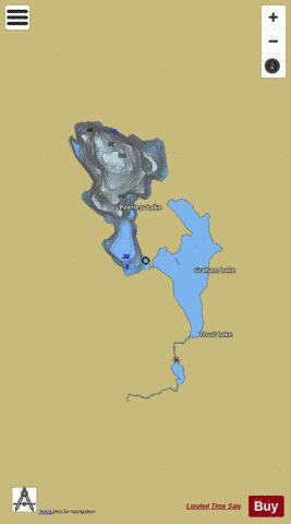 Peerless Lake Fishing Map - i-Boating App