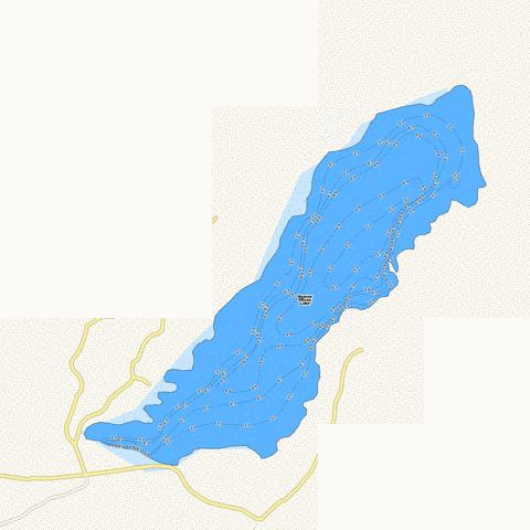 Beaver Mines Lake Fishing Map - i-Boating App