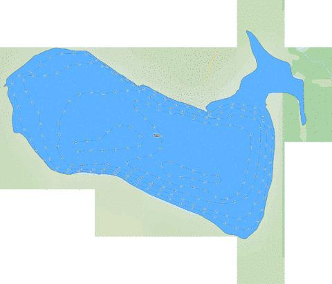 Birch Lake Fishing Map - i-Boating App