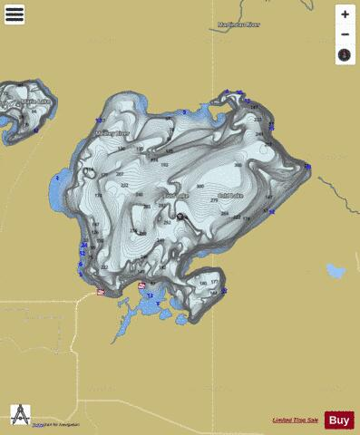 Cold Lake Fishing Map - i-Boating App