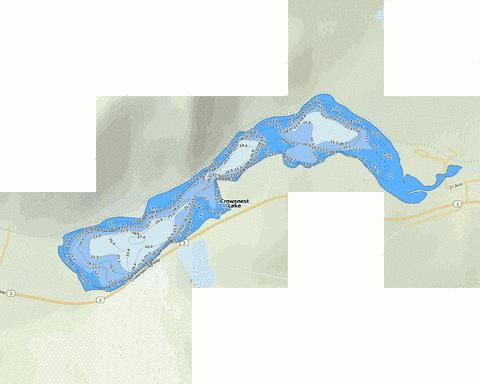 Crowsnest Lake Fishing Map - i-Boating App