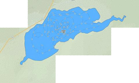 Grande Cache Lake Fishing Map - i-Boating App