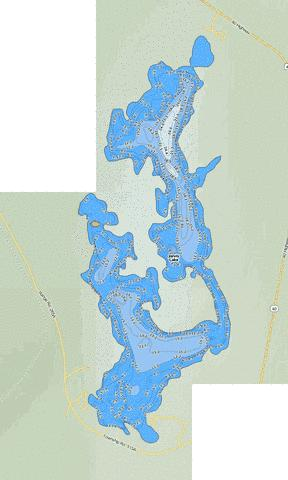 Jarvis Lake Fishing Map - i-Boating App