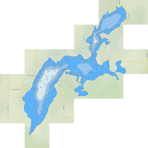 Lac Sante Fishing Map - i-Boating App