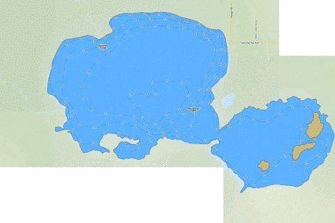 Manatokan Lake Fishing Map - i-Boating App