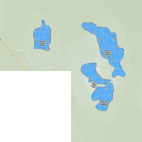 Pierre Greys Lakes Fishing Map - i-Boating App