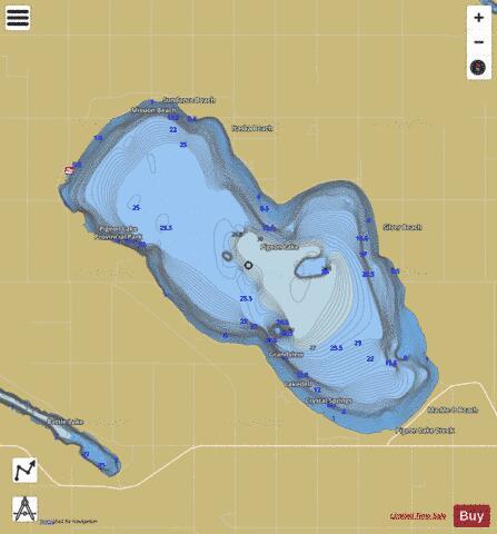 map of pigeon lake ontario Pigeon Lake Fishing Map Ca Ab Pigeon Lake Nautical Charts App map of pigeon lake ontario