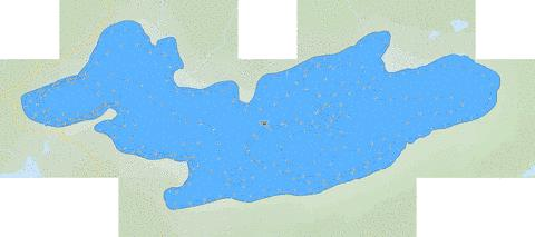 Tucker Lake Fishing Map - i-Boating App