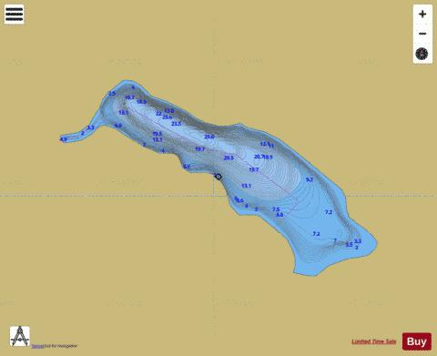 Robinson Lakes Fishing Map - i-Boating App