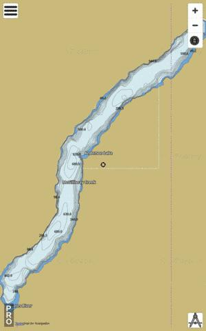 Anderson Lake Fishing Map - i-Boating App