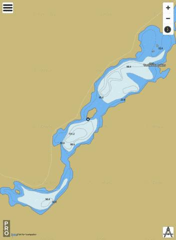 Tacheeda Lakes Fishing Map - i-Boating App
