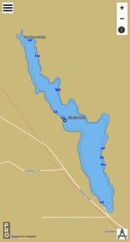 Charlie Lake Fishing Map - i-Boating App