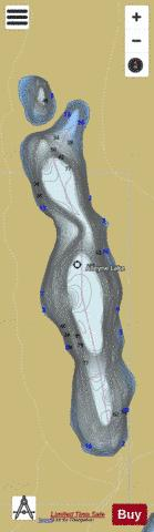 Alleyne Lake Fishing Map - i-Boating App