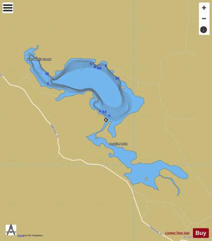 Anahim Lake Fishing Map - i-Boating App