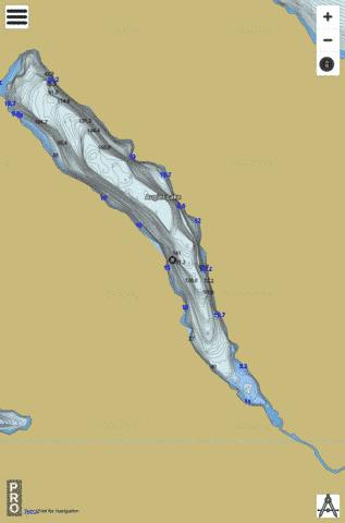 Augier Lake Fishing Map - i-Boating App