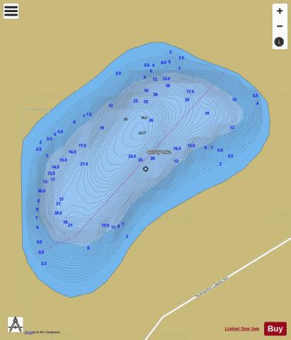 Barsby (Blind) Lake Fishing Map - i-Boating App