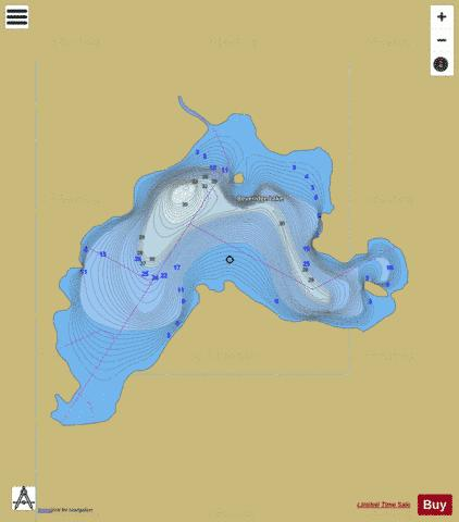 Beveridge Lake Fishing Map - i-Boating App