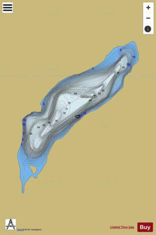 Bobbs Lake Fishing Map - i-Boating App