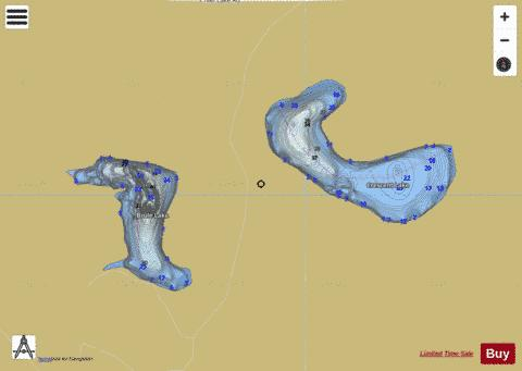 Brule Lake + Crescent Lake Fishing Map - i-Boating App