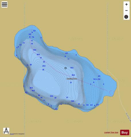 Bunting Lake Fishing Map - i-Boating App