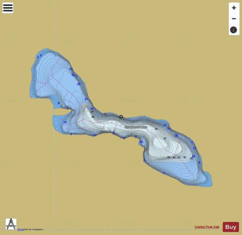 Chaoborus Lake Fishing Map - i-Boating App