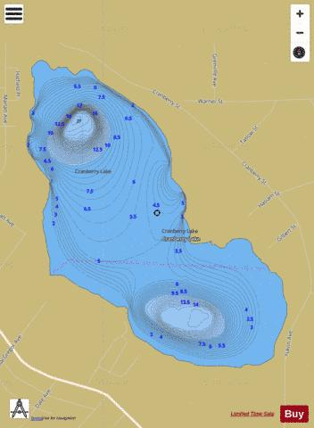 Cranberry Lake Fishing Map - i-Boating App