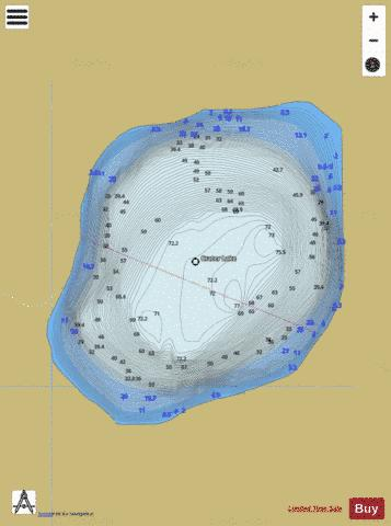 Crater Lake Fishing Map - i-Boating App