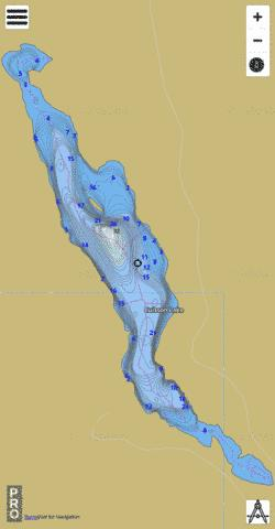 Cuisson Lake Fishing Map - i-Boating App