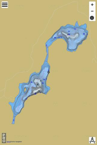 Dee Lake Fishing Map - i-Boating App