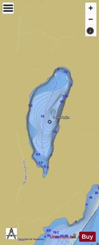 Devils Lake (Stave Area) Fishing Map - i-Boating App