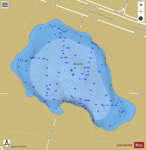 Diver Lake Fishing Map - i-Boating App