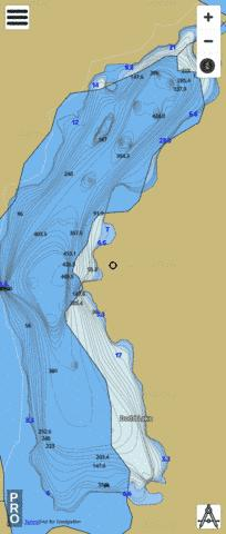 Dodd Lake Fishing Map - i-Boating App