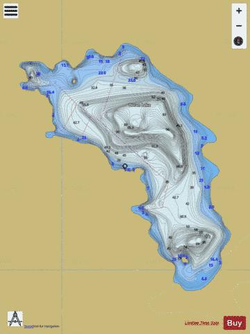 Doran Lake Fishing Map - i-Boating App