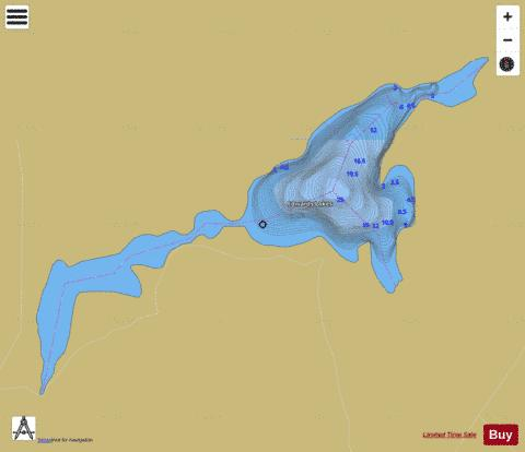 Edwards Lakes Fishing Map - i-Boating App