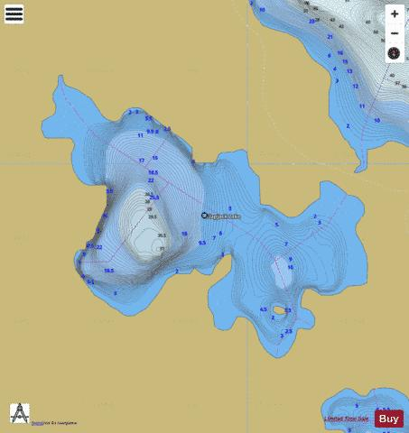Flapjack Lake Fishing Map - i-Boating App