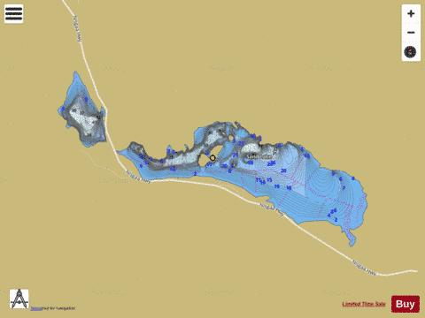 Gainor Lake Fishing Map - i-Boating App
