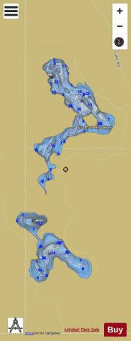Graffunder Lakes Fishing Map - i-Boating App