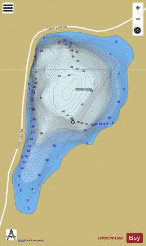Green Lake Fishing Map - i-Boating App